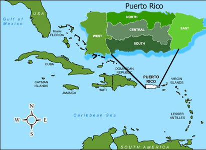 Maps United States Map Puerto Rico - Puerto rico on us map