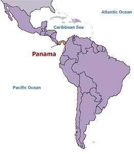 ural mountains and isthmus of panama