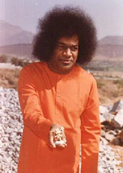 Swami with statue