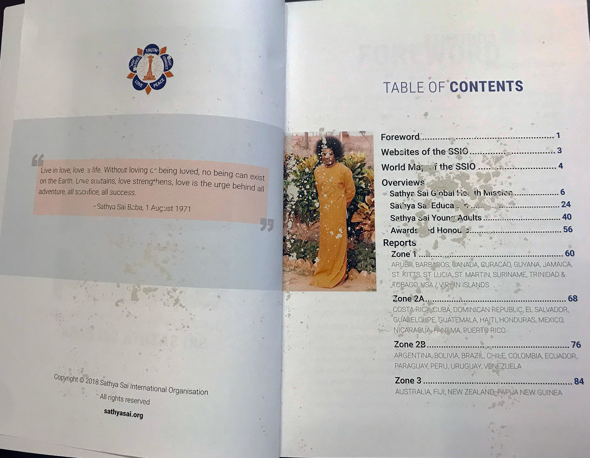 SSIO Annual Report 2017-2018 | Sathya Sai International Organisation